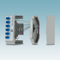 Compact splice boxes for future-proof data transmission