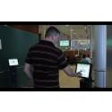 Q-channel touchskärm med kassadisplayer