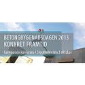 Betongbyggnadsdagen 2013 - Konkret framtid - 3 oktober i Stockholm