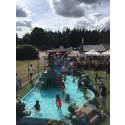Nya barnpool på Vita sandars camping i Mellerud
