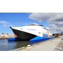 Gotlandsbåten i Visby hamn, färjeläge 2