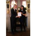 Student vid högskolan fick utmärkelse i Stockholm