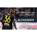 Alexander Isak utsedd till Månadens Spelare i Allsvenskan