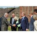 Kungligt besök på Untra kraftstation