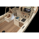 High res image -Chris-Craft Balearics-  on deck sink and fridge