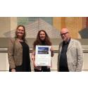 Jessica Stark får Kjell Hultmans stipendium 2017