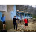 Ungdomsgäng från Skorped målade skola i Haiti