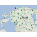 I Estland huggs julgranen med hjälp av en app