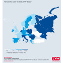Rising inflation means UK salary increases amongst lowest in Europe next year