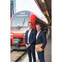 Peder Osterkamp, kommersiell chef MTR Express och Andreas Tornberg, vd Branding Sales.