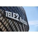 Tele2 Arena fasad - nytt konstgräs från Unisport