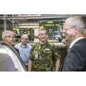 Flygvapenchefen besökte GKN i Trollhättan