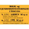 BOLIG- OG EJENDOMSINVESTERINGER I TOSCANA - Informationsseminar