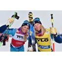 Anna och Sandra glänste i snöyran på Idre Fjäll