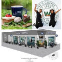 Wayne's Coffee hoppas få glädja Londons vänner av ekologiskt kaffe med sitt nya café i den brittiska huvudstaden