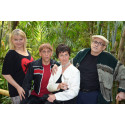 Die Leipziger Funzel: Sabine Kühne-Londa, Thorsten Wolf, Katherina Brey und Bernd Herold im Gondwanaland des Zoo Leipzig