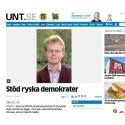 Rysk demokrati ligger i Sveriges säkerhetspolitiska intresse