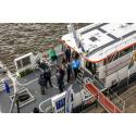 Hi res image - Oceanology International - Oi16 People on board demo vessel