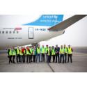 Norwegian og UNICEFs nødhjelpsfly i lufta på vei til Jordan