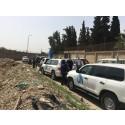 Hjälpkonvoj når fram till Ghouta
