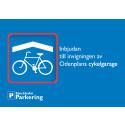 Pappersutskick inbjudan invigning cykelgarage Odelplan