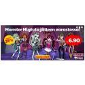 Nyt varastossa! Monster High -15% / Kaikkea matkalle ja autoreissuille -38%