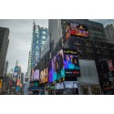 Glasgow glows, day and night, thanks to massive  Delta Air Lines advert in New York's Times Square