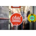Chat Carriage - Door label