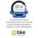 BKE TeleCom vald till bästa leverantör vad gäller kundnöjdhet.