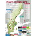 Bioenergis karta: Pellets i Sverige 2018