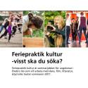 Region Örebro län erbjuder feriepraktik kultur