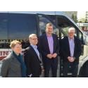 Trafiklandstingsrådet Kristoffer Tamsons på besök i Huddinge