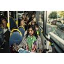 Resenär på buss