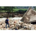 Katastrofstöd efter översvämningar i södra Kina