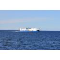 Gotlandsbåten öppet hav