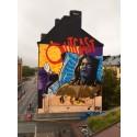 Stockholms största väggmålning i FOX kampanj för Outcast