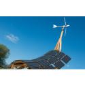 Kraftringens giraff levererar el från sol och vind till Möllegården på Science Village