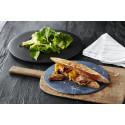 Smokey pork shank à la steak sandwich med karamelliserad lök och spröd sallad