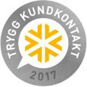 Vi är stolta mottagare av Trygg Kundkontakt 2017
