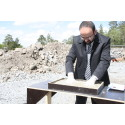 Bostadsministern invigde arbetet i Einar Mattssons nollenergihus