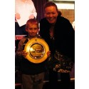 HONOUR: Connor Hoaken is presented with the Ann Metcalfe Memorial plate