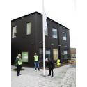 Invigning av hus och huvudkontor på Råda torg i Mölnlycke