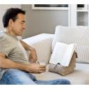 Låt bok, nacke och handleder ta en paus när du läser.