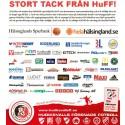 Tack från HuFF - här är exempel på vad vi genomfört och de företag som stöttat våra projekt och breddinsatser 2016!