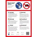 Affisch om matavfall på sex språk