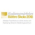 Fredrikshovs slotts skola i Stockholm och  Nyköping Strand Utbildningscentrum tilldelas Kvalitetsutmärkelsen Bättre Skola 2018