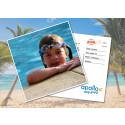 Apollo erbjuder sina resenärer att skicka riktiga vykort gratis med mobilappen Postify Postcards