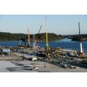 Visionsbilden börjar realiseras när Stockholm bygger nya Norvik Hamn