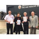 Fire service donation to Mayor's good causes