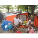 """Projekt """"Tält till Haiti"""" har levererat och distribuerat en första omgång tält till drabbade på Haiti"""